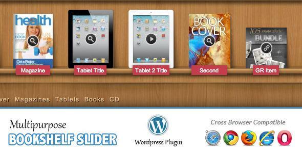 Bookshelf Slider - витрина для вашего сайта