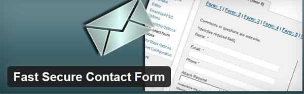 Fast Secure Contact Form - Форма обратной связи - восемь лучших WP плагинов