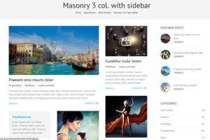 The7 - блог massonry с сайдбаром