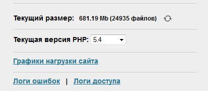 hostenko - размер сайта