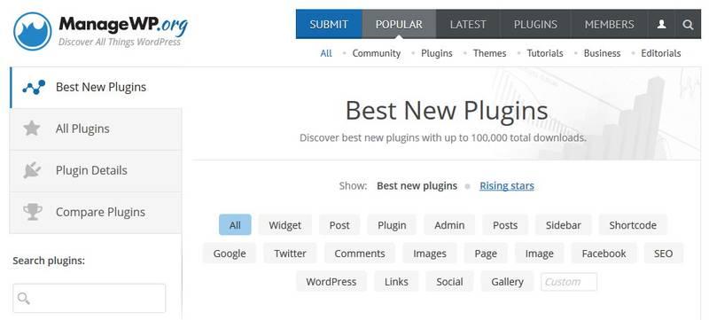 Plugin  Discovery Tool от ManageWP