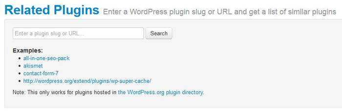 Related Plugin Search