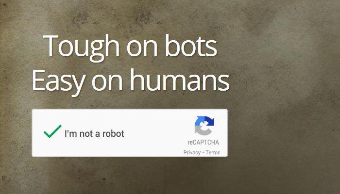 No CAPTCHA reCAPTCHA от Гугла