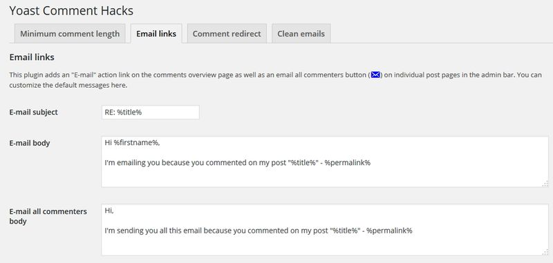 Yoast Comment Hacks 2