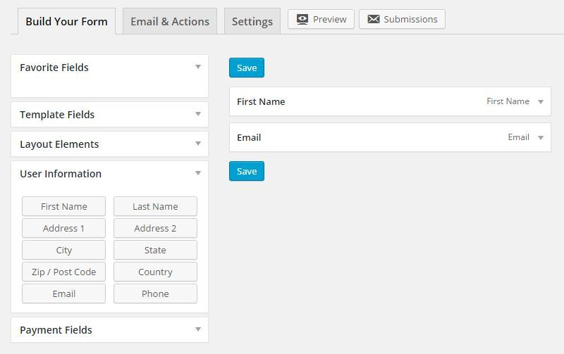 Form Builder User Interface Comparison 2