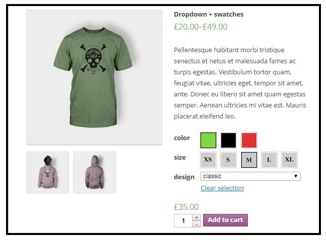 Woocommerce Color or Image Variation Swatches 2