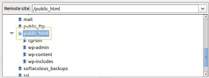папка public_html