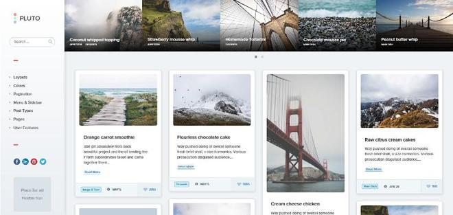 WordPress темы в стиле Masonry в 2016