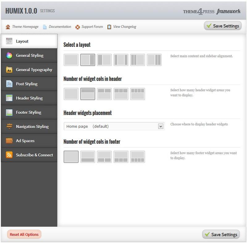 HUMIX - бесплатный шаблон от Theme4press