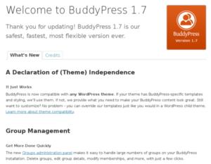 """Обновление - BuddyPress 1.7 """"Totonno"""""""