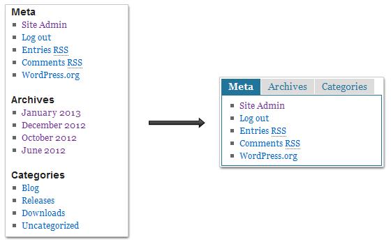 Как создать виджет с табами для WordPress?