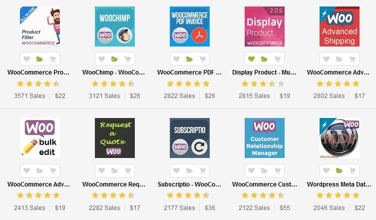 WooCommerce - дополнения