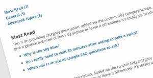 clear faqs wordpress plugin