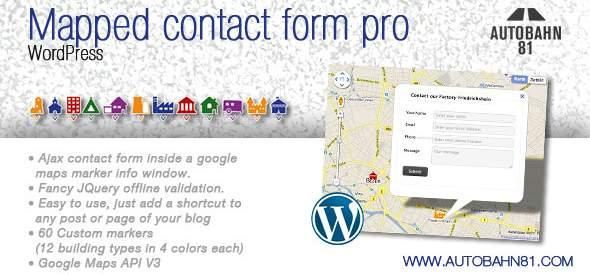 Mapped contact form - Форма обратной связи - восемь лучших WP плагинов