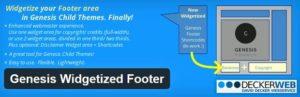 Genesis Widgetized Footer