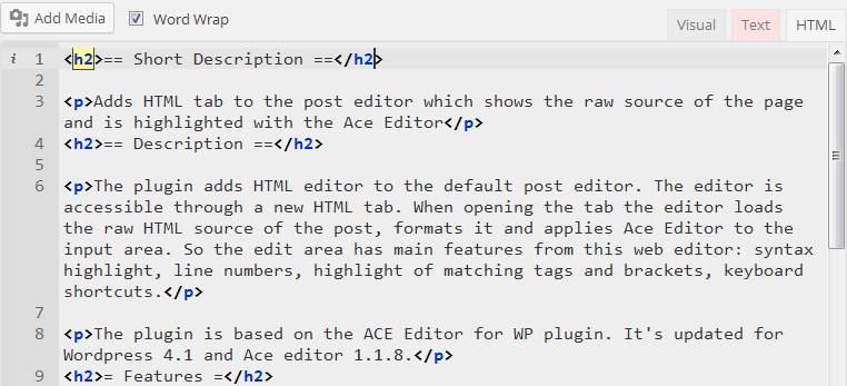 HTML Post Editor