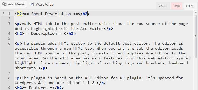 HTML Post Editor