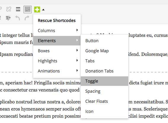 Rescue Shortcodes