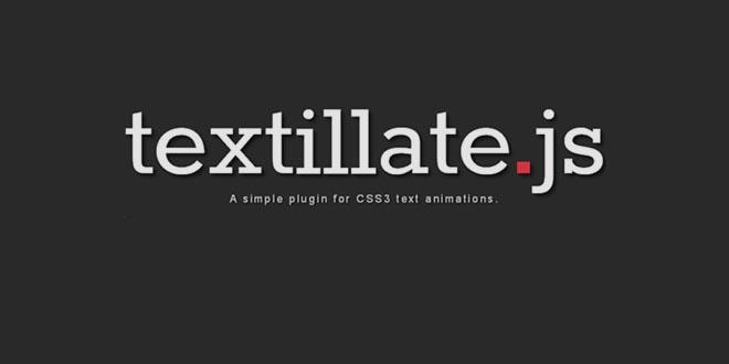 Easy Textillate - анимация для блога