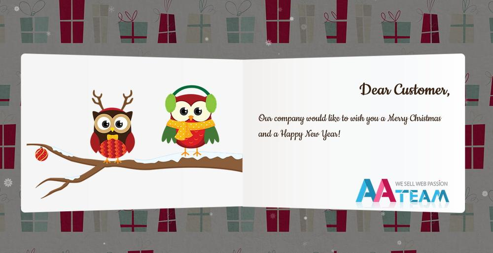 Business Christmas Greeting Card