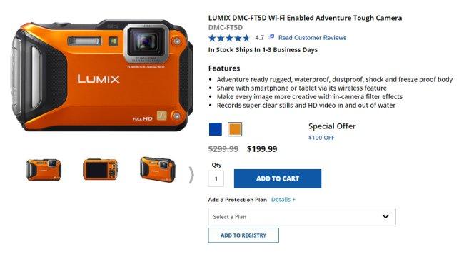 Для примера приведем описание профессиональной водонепроницаемой фотокамеры Panasonic для съемок на природе.