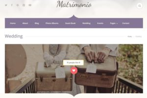 Matrimonio Wedding WordPress Theme