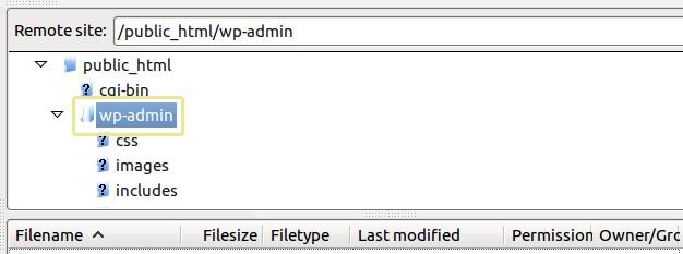 Папка wp-admin