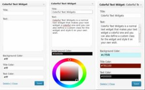 Colorful Text Widget