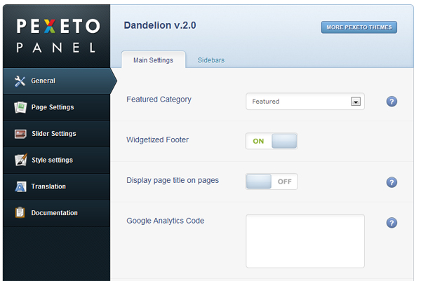 Dandelion - админ панель