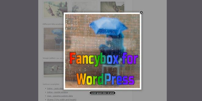 Fancybox for WordPress — красиво выводим изображения