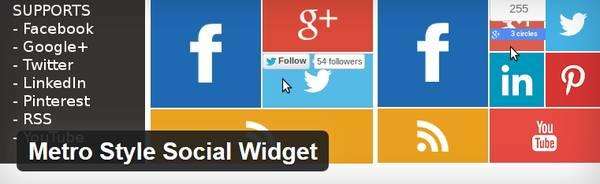 Metro Style Social Widget