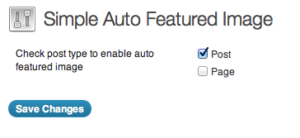 Simple Auto Featured Image