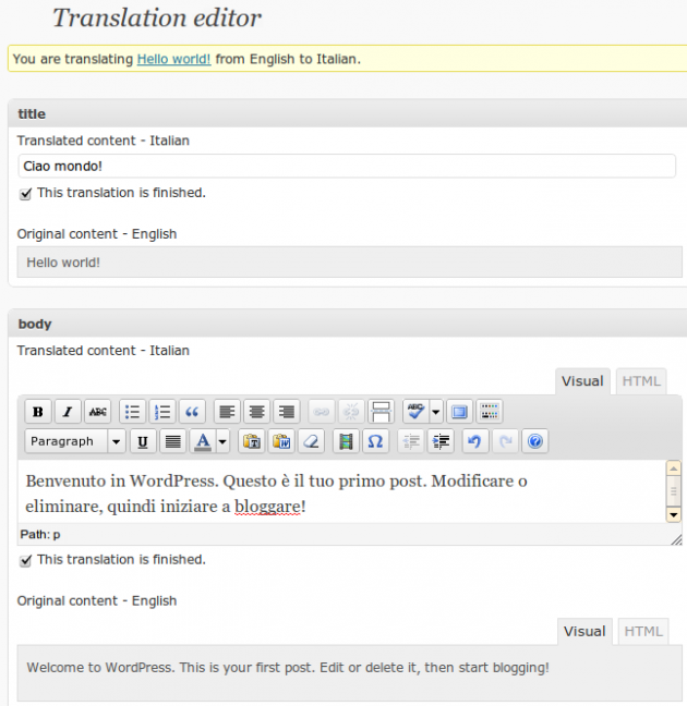 The WordPress Multilingual Plugin 1