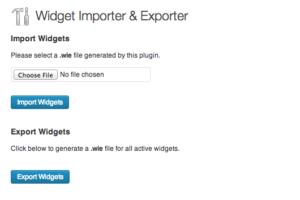 Widget Importer Exporter