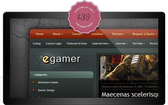 15 лучших шаблонов для игровых сайтов